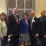 Senator Klobuchar with RAMS delegation 042116